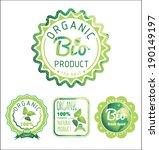 eco labels bio template.... | Shutterstock .eps vector #190149197