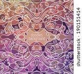abstract vector background.... | Shutterstock .eps vector #190151414