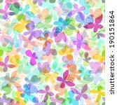 seamless pattern of colored... | Shutterstock .eps vector #190151864