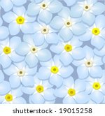 forget me nots  seamless | Shutterstock .eps vector #19015258