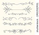 set of hand drawn ornamental... | Shutterstock .eps vector #1901532931