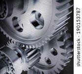 stylized metal gears. dark... | Shutterstock . vector #190153787
