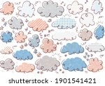 3 color design cute handwritten ...   Shutterstock .eps vector #1901541421