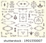 set of decorative elements for... | Shutterstock .eps vector #1901550007