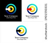 vision gradient color vector... | Shutterstock .eps vector #1901550331