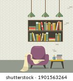 modern flat design sofa... | Shutterstock .eps vector #1901563264