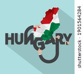 hungary typography design... | Shutterstock .eps vector #1901564284