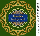 mandalas. decorative round... | Shutterstock .eps vector #1901583997