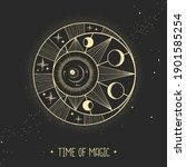 modern magic witchcraft card... | Shutterstock .eps vector #1901585254