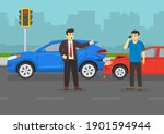 traffic or road accident. angry ... | Shutterstock .eps vector #1901594944