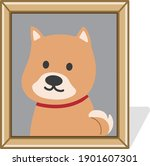 picture frame of a deceased... | Shutterstock .eps vector #1901607301