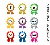 collection of colorful award... | Shutterstock .eps vector #1901610307