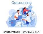 outsourcing concept. idea of... | Shutterstock .eps vector #1901617414