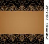 vector seamless baroque damask... | Shutterstock .eps vector #190162334