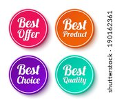 set of promotional stickers ... | Shutterstock .eps vector #190162361