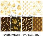 set of vector wheat patterns ... | Shutterstock .eps vector #1901633587