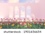 romantic scene with geometrical ... | Shutterstock . vector #1901656654