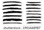 grunge brushes set.vector... | Shutterstock .eps vector #1901668987