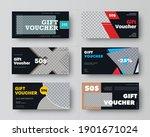 black gift voucher template... | Shutterstock .eps vector #1901671024