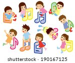note and kids  asian  | Shutterstock .eps vector #190167125