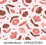 decorative flower  on pink...   Shutterstock .eps vector #1901672194