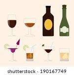 drink design over beige... | Shutterstock .eps vector #190167749