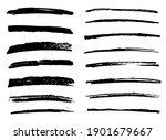 set of hand drawn grunge brush... | Shutterstock .eps vector #1901679667