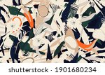 abstract floral pattern. modern ... | Shutterstock .eps vector #1901680234