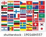 set of flags  vector... | Shutterstock .eps vector #1901684557