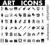 art icons | Shutterstock .eps vector #190169507