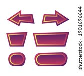 set of funny violet button for...