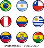 flag icons of south america.... | Shutterstock .eps vector #190170014