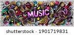 music hand drawn cartoon...   Shutterstock . vector #1901719831