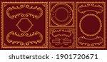 vintage borders bundle  these... | Shutterstock .eps vector #1901720671