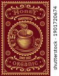 a vintage honey label  this... | Shutterstock .eps vector #1901720674