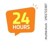 24hrs icon banner vector... | Shutterstock .eps vector #1901722387