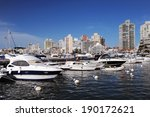 Boats And Yachts In The Bay In...