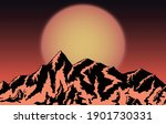 mountains design with sunset... | Shutterstock .eps vector #1901730331