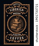 a vintage coffee label  this... | Shutterstock .eps vector #1901733721