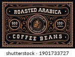 a vintage coffee label  this... | Shutterstock .eps vector #1901733727