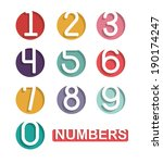 Numbers Design Over White...