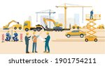construction site with... | Shutterstock .eps vector #1901754211