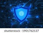 cyber security. online... | Shutterstock .eps vector #1901762137