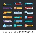 breaking news banners. headers... | Shutterstock .eps vector #1901768617