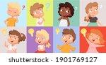 thinking kids. cute children... | Shutterstock .eps vector #1901769127