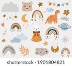 vector  boho clipart for... | Shutterstock .eps vector #1901804821
