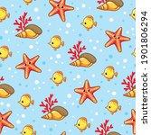 vector seamless pattern on the... | Shutterstock .eps vector #1901806294