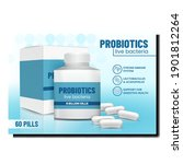 probiotics live bacteria...   Shutterstock .eps vector #1901812264