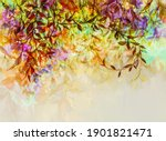 abstract oil painting of... | Shutterstock . vector #1901821471