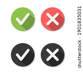 cross and check mark icons ... | Shutterstock .eps vector #1901835031